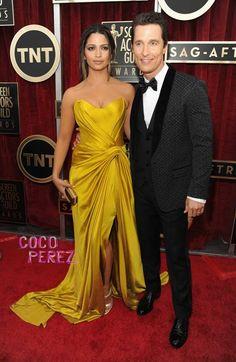 SAG Awards 2014: Matthew McConaughey y Camila Alves en la alfombra roja