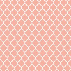 Quatrefoil Lattice In Pale Salmon Coral Pink By Spacefem Click To Purchase Fabric