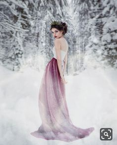 Snow Photography, Fantasy Photography, Portrait Photography, Winter Princess, Fairytale Gown, Winter Bride, Snow Queen, Photoshoot Inspiration, Winter Snow