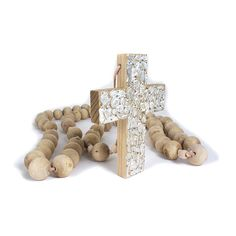 Gorgeous  large wooden milagros rosary!