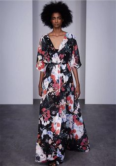 Floral Reef Maxi Dress (Black) by French Connection French Connection, Leotards, Spring Fashion, Wrap Dress, Floral Prints, Spring Summer, Boutique, Waterford Ireland, Amazing Dresses