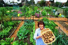 Joan Harding at the Hawthorn community garden.