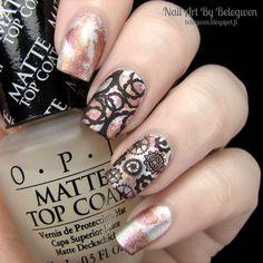 Nail Art by Belegwen: The 31 day challenge | Day 8: Metallic nails