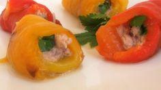 Rotolini di peperoni con tonno