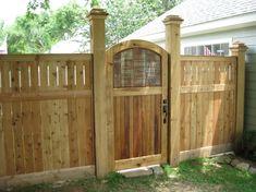 Garden Gates Make A Grand Entrance Traditional Wood Gate Wood Fence Gates, Wooden Garden Gate, Metal Garden Gates, Fence Doors, Wooden Gates, Entrance Gates, Garden Fencing, Grand Entrance, Porch Garden