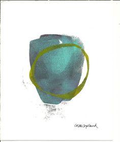 Monoprint on printmaking paper, original art, by Colette Copeland Enso 2