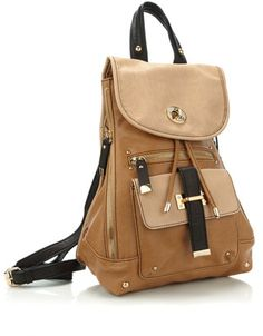 tan leather rucksack  lt 3 Fashion Backpack, Tan Leather, Accessorize Bags,  Leather 744c309d09