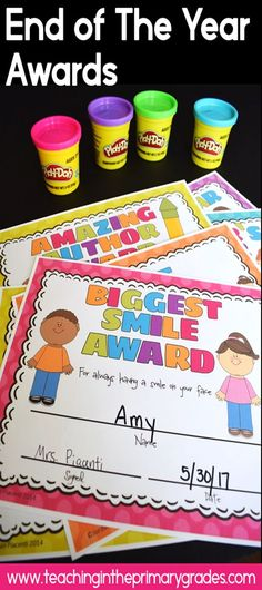 Fun end of the year awards. Just add a small treat for the perfect (and cheap) end of the year student gift.