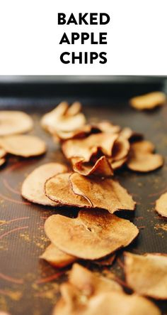 A tutorial for an easy, delicious, 2-ingredient snack idea – baked apple chips. Just slice and bake, no dehydrator required or any fancy equipment. Just apples, cinnamon and your oven!