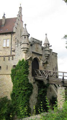 Drawbridge to the Schloss Lichtenstein Castle - Germany Medieval Village, Chateau Medieval, Medieval Castle, Beautiful Castles, Beautiful Places, Amazing Places, Places To Travel, Places To See, Travel Destinations