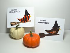 Halloween Card / Happy Halloween Card / Handmade by TextileTrolley, $4.50