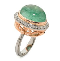 Alishan cabochon green tourmaline ring