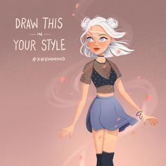 Art Style Challenge, Drawing Challenge, Art Drawings Sketches, Cool Drawings, Film Disney, Art Prompts, Cartoon Art Styles, Art Reference Poses, Character Design Inspiration