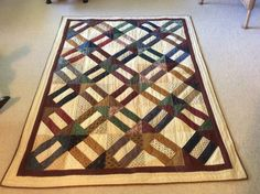 Cracker quilt made with Thimbleberries scraps made by Sharon Theriault