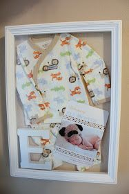 First outfit first photo shadow box to remember just how tiny they were