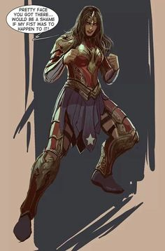 Best Wonder Woman armor I have seen yet.