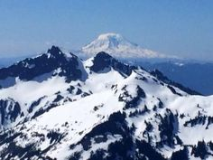 Mt Adams, over the Tatoosh Range -by BrianYotz
