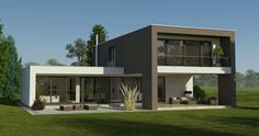 Prefabricated house Styria, Prefabricated house massive, Prefabricated house turnkey, Brick … - Decorations for Home Beautiful House Plans, Modern House Plans, Modern House Design, Small Indoor Pool, Casas Country, Flat Roof House, Architectural Design House Plans, Building A Container Home, Prefabricated Houses