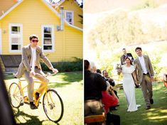 Real Wedding: Tracey + Ross' Vintage Bicycle Wedding