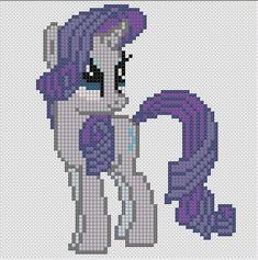 My Little Pony by Stinnen on DeviantArt Rarity My Little Pony, Rarity Pony, My Little Pony Unicorn, My Lil Pony, Pony Bead Patterns, Embroidery Patterns, Cross Stitch Patterns, Cross Stitch Horse, Cross Stitch For Kids