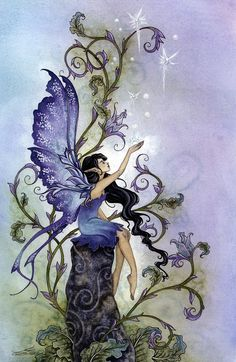pixiewinksfairywhispers:  autumnsspirit:Creation by Amy Brown