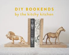 DIY BOOKENDS // The Kitchy Kitchen
