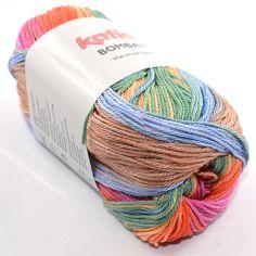 Mercerisierte Baumwolle mit wunderschönem langen Farbverlauf.