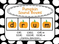 Classroom Freebies: Pumpkin Sound/Letter Boxes