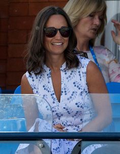 British Pippa Middleton, sister of the Duchess of Cambridge, attends day two of the ATP Aegon Championships at The Queen's Club in west London, on June 10, 2014.