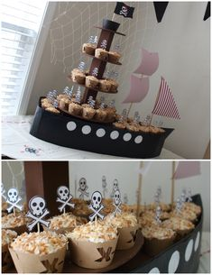 It& a pirate party! Deco Pirate, Pirate Theme, Peter Pan Party, Nautical Party, Mermaid Birthday, Pirate Birthday Cake, 3rd Birthday Parties, Birthday Ideas, Baby Party