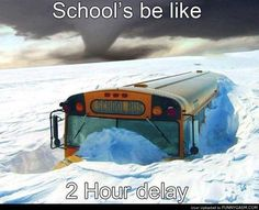 Lol yes! Wisconsin all the way! Especially in my school district. There was once a blizzard that dropped if snow and they temperature was negative and it was only a delay! Minneapolis, Bus Humor, Wheels On The Bus, Bus Driver, Look At You, Laughing So Hard, Just For Laughs, Laugh Out Loud, The Funny