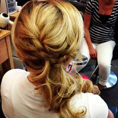My wedding hair. Braided side ponytail.