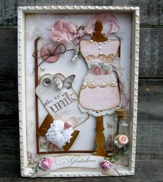 gorgeous shadow box,but you could make into a card