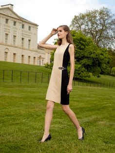 Classy Ralph Lauren dress... Love beige and black together.. Very nice for work... #macysfallstyle