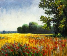 """Oat Fields"" by Claude Monet"