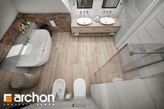 Projekt dom w sliwach 27880 Bathroom Interior, Bathroom Inspiration, Bathtub, House Design, Interior Design, Architecture, Home Decor, Attic, Houses