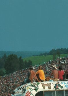 Woodstock a sea of hippies and love!