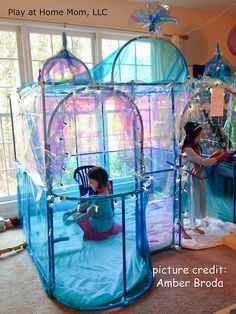 """""""FROZEN"""" castle- fort magic is on our list now! Little Girl Toys, Toys For Girls, Baby Girl Toys, Kids Toys, Girl Bedroom Designs, Girls Bedroom, Fort Magic, Frozen Castle, Activities For Kids"""