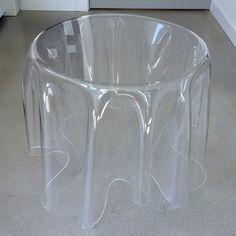 Clear acrylic drape side table Howell Furniture, Clear Acrylic, Glass Vase, Table, House, Home Decor, Decoration Home, Home, Room Decor