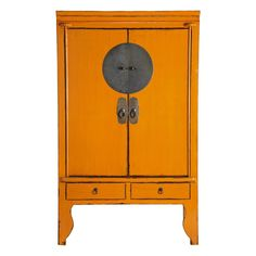 I think we may have a paint job ahead of us. i think out chinese marriage armoire needs to be distressed orange - Armoire de mariage  chinoise orange MANDARIN