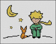 BOGO FREE! The Little Prince Cross Stitch Pattern, Needlecraft Le Petit Prince Embroidery Needlework PDF Instant Download #021-1 by StitchLine on Etsy