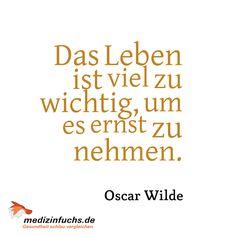#Zitat / #Quote - #OscarWilde. www.medizinfuchs.de - der beste #Preisvergleich in #Deutschland für #Medikamente. Sparen Sie bei der Bestellung von #Medizin bzw. ihrer #Arzneimittel bis zu 76 % gegenüber dem Kauf direkt in der #Apotheke. #Medizinfuchs vergleicht die Preise von über 180 Versandapotheken. Jetzt überzeugen lassen: http://www.medizinfuchs.de/