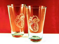 Ordered these beer pints to thank our cardiothoracic surgeon