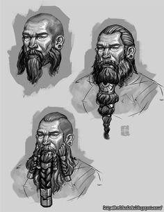 http://z0mbiepirat3.deviantart.com/art/Dwarf-Head-Concepts-381393879