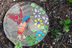 DIY or Buy :: How to Make a Garden Mosaic Stepping Stone - Or Where To Buy