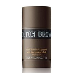 """Re-charge Black Pepper Anti-perspirant Stick - """"Doesn't leave white patches, performs brilliantly, smells magic."""" - Lex, Brighton, England. Brilliant stocking filler."""