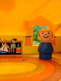In the Kid's Bedroom of the Fisher Price Play Family House