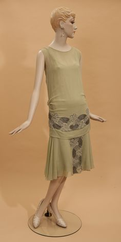 Lovely frock, 1920s.  From the exhibition.