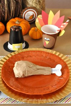 kids thanksgiving table ideas and tutorials: