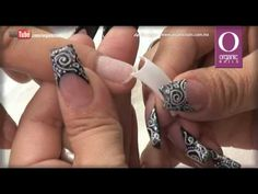 Aprende a diseñar y decorar tus uñas con Na, Tecnica enseñada Cool Flower - YouTube Glam Nails, Toe Nails, Pink Nails, Acrylic Nail Shapes, Acrylic Nails, Nail Mania, Basic Nails, Organic Nails, Nail Art Videos